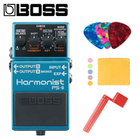 Boss PS 6 Harmonist Pitch Shifter Stomp Box Effects Pedal Bundle with Picks, Polishing Cloth and Strings Winder