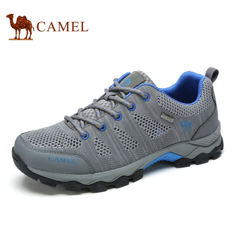 Camel outdoor hiking shoes male breathable light anti-slip outdoor sports men's shoes A712326175 camel men s outdoor anti collision toe cap cowhide casual beach sandals summer breathable river sandal male a622309222