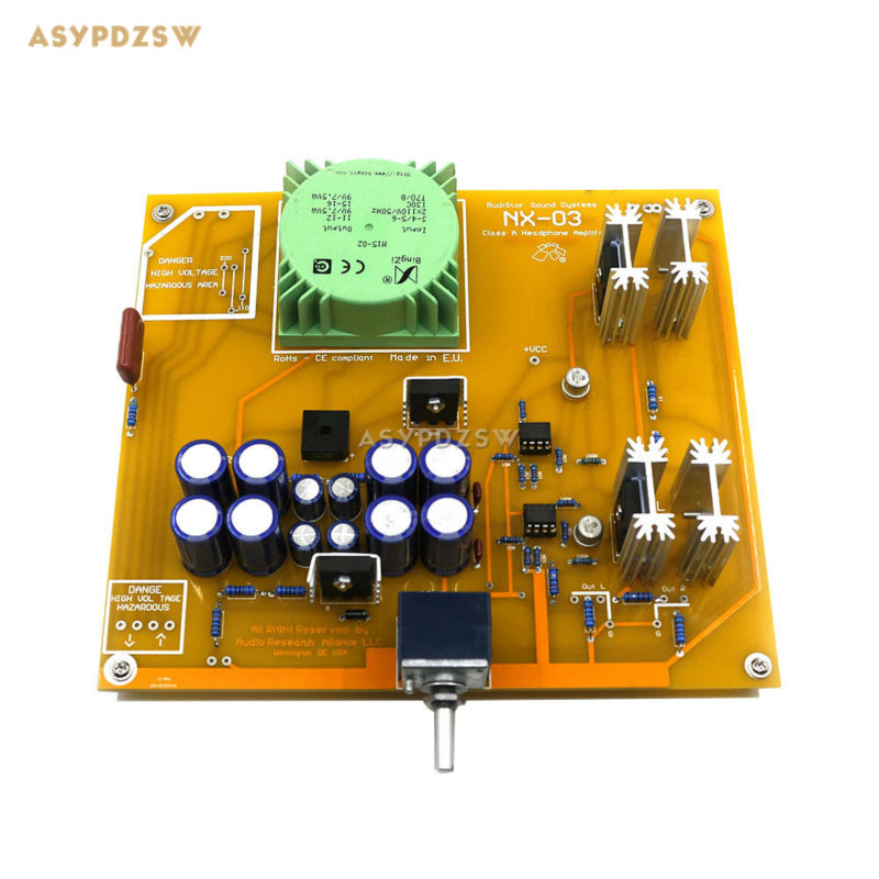 Assembled NX-03 headphone power amplifier Clone RudiStor NX03 finished board 2pcs assembled quad405 clone power amplifier finished board with mj15024 angle aluminum 2 channel