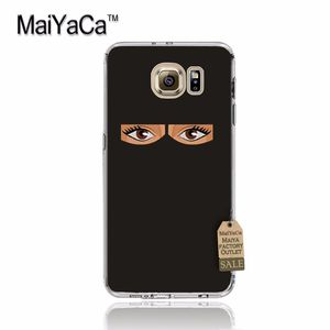 Image 2 - MaiYaCa Oriental Woman In Hijab Face Muslim Islamic Gril Eyes Phone Case for samsung galaxy s7edge s6 edge plus s5 s8 s7 case