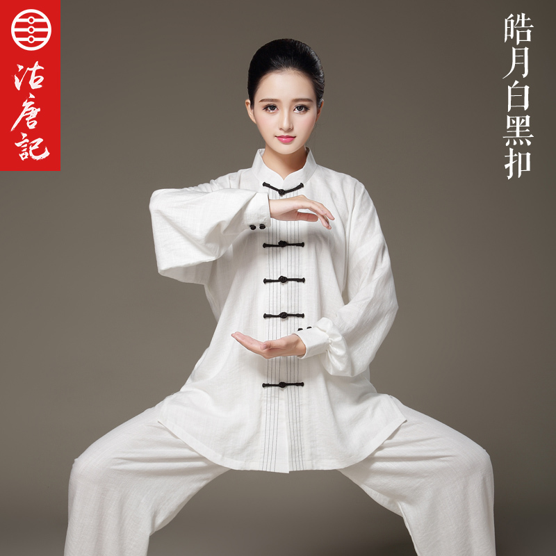 Tai Chi Unifrom   Men And Women Tai Chi Cotton and line Martail art clothing Wu shu cuit  Spring Summer Autumn tai chi clothing cotton clothes and costumes multicolor optional morning suit of taijiquan for men and women section