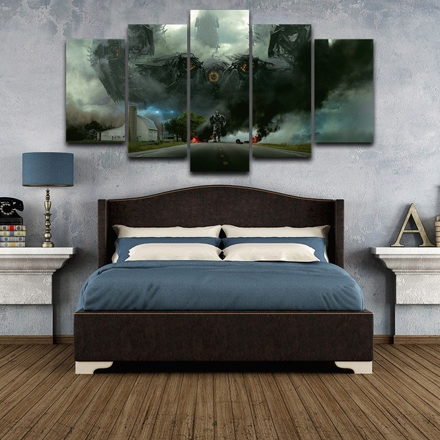 Artistic Print Drawing on Canvas HD Printed Decor for home Framed wall art pictures Spray Oil Painting Decoration Robot AE0504