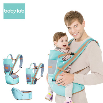 BABY LAB Cotton Ergonomic Backpack Carrier With Hipseat Wrap Sling Accessory Mummy Maternity Belt Waitband 0-36months gabesy baby carrier ergonomic carrier backpack hipseat
