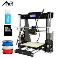 Full Acrylic 3D Printer Frame Precision Anet A8 3D Printer Kit DIY Reprap Prusa i3 2004 LCD Display 8GB SD Card Filament Gifts