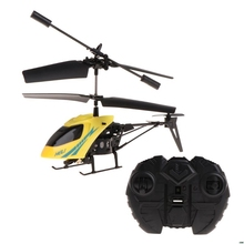 2CH Mini RC Helikopter Remote Control Pesawat Radio Listrik Mikro 2 Channel