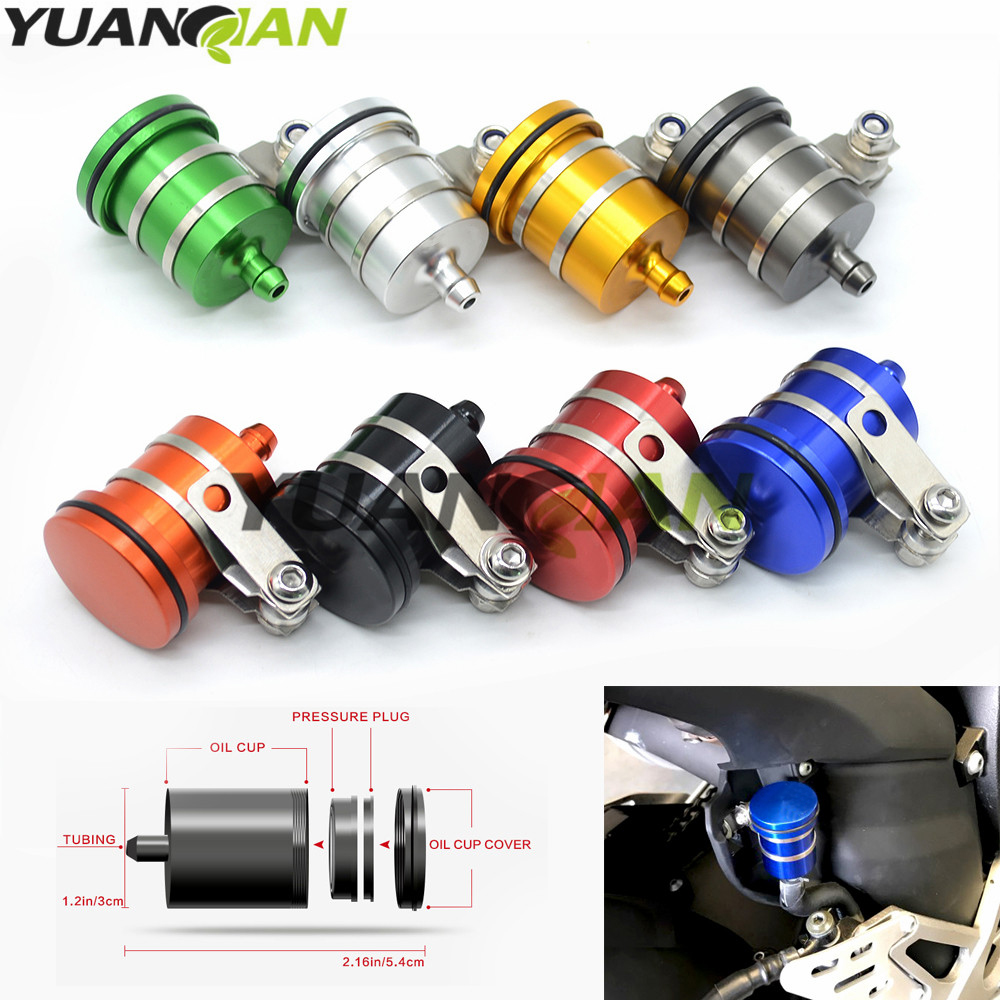 CNC Front Tank Fluid Reservoir Oil Cup For Most of More Than 125cc Sport Street