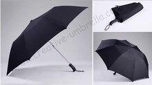 120cm 3 persons two fold auto open hex-angular 50T steel windproof anti-thunder fiberglass mini golf umbrellas sport parasol