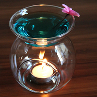 2017 Promotion Transparent Glass Incense Burners Sweet Lamp Large Capacity Essential Oil Fragrance Furnace Scented Candle