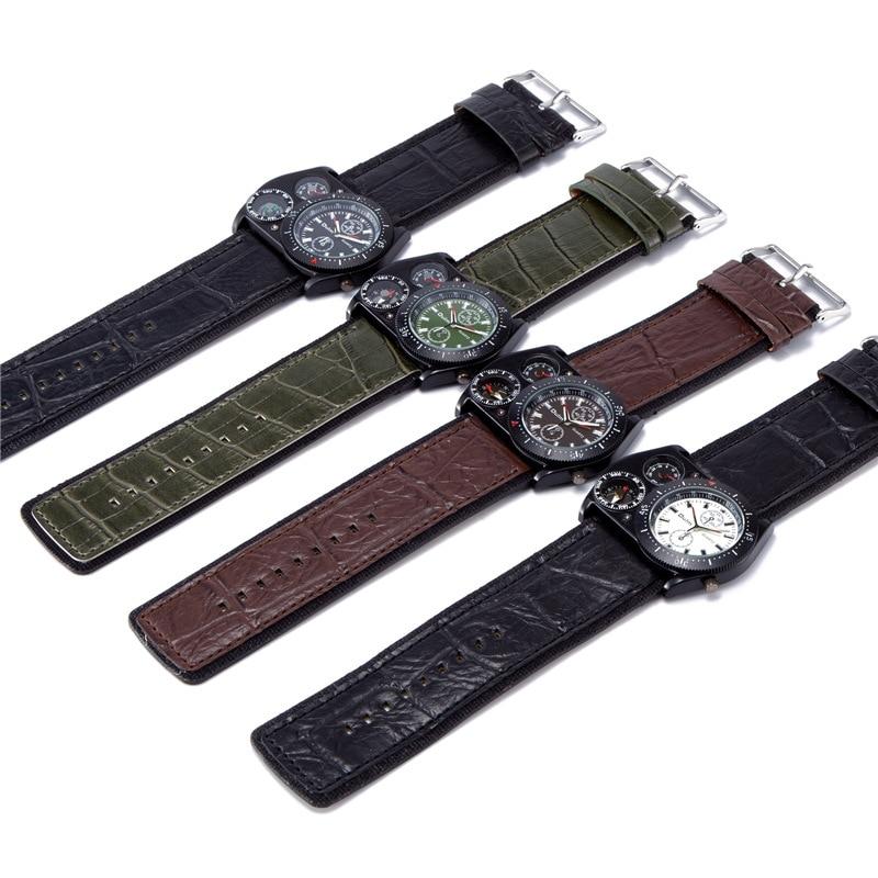 Oulm Reloj de pulsera deportivo Hombres Reloj militar de cuarzo de - Relojes para hombres - foto 5