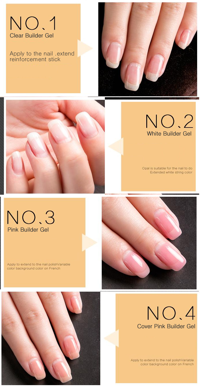 YAYOGE clear nail Builder Gel polish varnish sculpting gel UV LED ...
