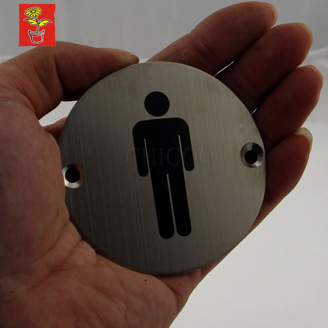 Hi Q Steel Door Sign Plates Toilet Plate Men Signs Stainless Name
