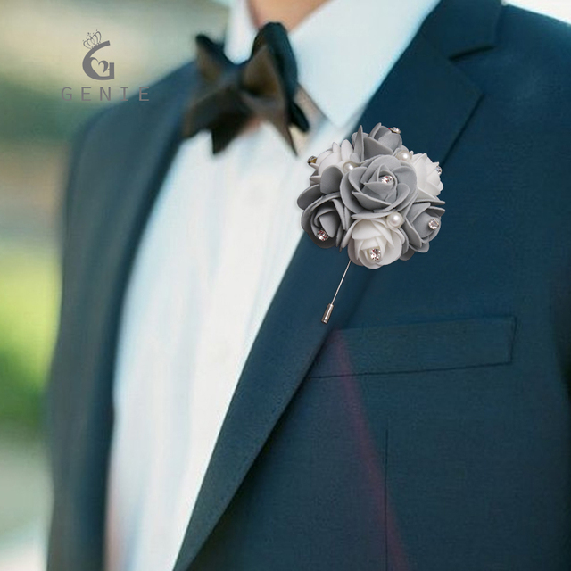 Genie 2017 wedding boutonniere flowers suit corsage artificial genie 2017 wedding boutonniere flowers suit corsage artificial foam rose flower with pearls white brooch pins junglespirit Image collections