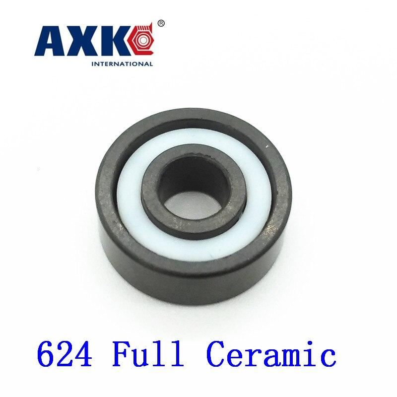 AXK 624 Full Ceramic Bearing ( 1 PC ) 4*13*5 mm Si3N4 Material 624CE All Silicon Nitride Ceramic Ball Bearings 624 si3n4 full ceramic ball bearing 4 13 5mm