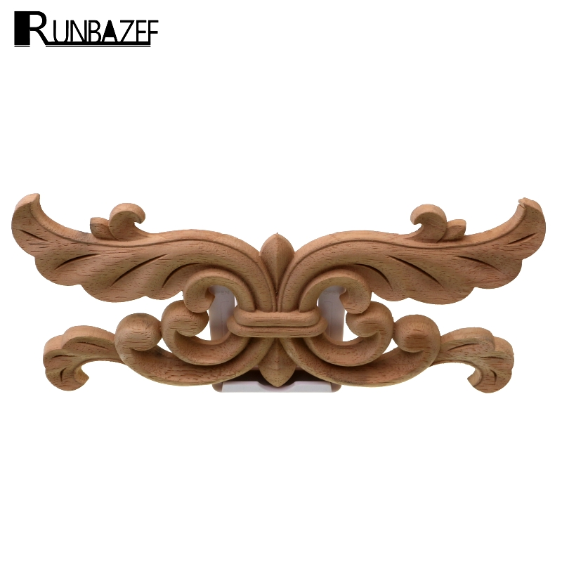 Furniture Decal Carving Wood Decoration Woodcarving Appliques Wooden Applique