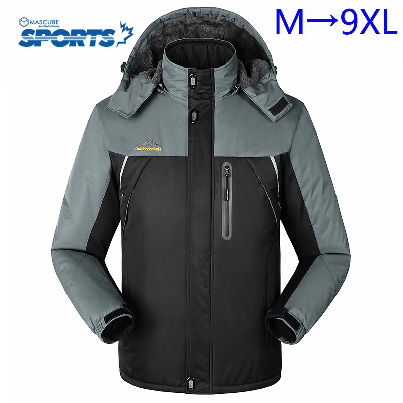 Men Windproof Soft Shell Jacket New Warm Outdoor Sports Hiking Mountaineering Climbing Camping Clothing coupe vent homme 5XL-8XL