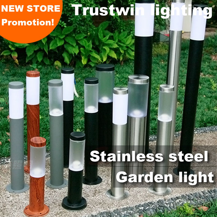 110V 220V 60cm 100cm 1M landscape post light waterproof IP65 stainless outdoor Garden lawn pillar light