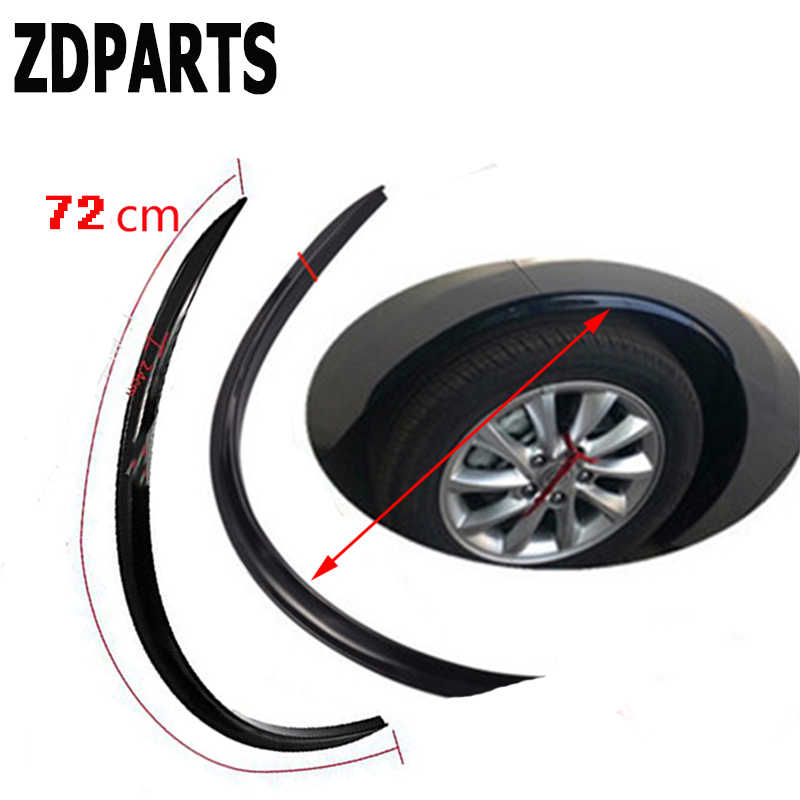 ZDPARTS 2 PC Borda do Pneu Da Roda de Carro Fender Sobrancelha Adesivos De Carbono Para Volkswagen VW Golf 4 5 7 6 MK4 Honda Civic 2006-2011 Accord
