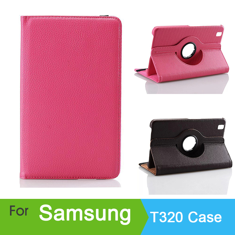 For samsung t320 protective case pro 8.4 holster tab t321 t325 shell protective case rotary flat plate free shipping rubberized hard shell case w ribbed design holster