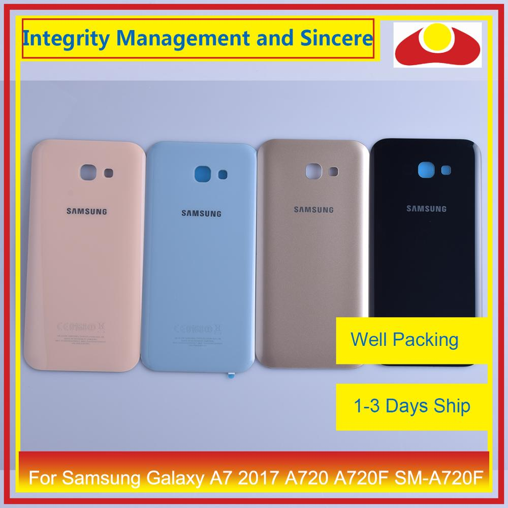 Image 3 - 50Pcs/lot For Samsung Galaxy A7 2017 A720 A720F SM A720F Housing Battery Door Rear Back Cover Case Chassis Shell Replacement-in Mobile Phone Housings & Frames from Cellphones & Telecommunications