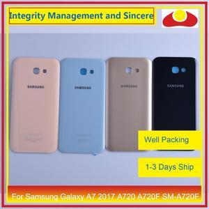 Image 3 - Orijinal Samsung Galaxy A7 2017 A720 A720F SM A720F batarya muhafazası kapı arka arka kapak kasa şasi kabuk değiştirme