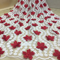 Nigerian Lace Fabric 2018 High Quality Lace Deluxe Flower 3D African Lace Fabric Embroidery French Lace Fabric