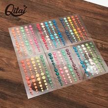 6 Colors Decoration 6pcs/lotscrapbooking Stickers Sugar Sprinkles Self- adhesive Enamel Resin Sticker ES031