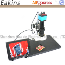 Big sale Full set HD HDMI USB Digital Microscope Camera Set System + Work station+ 180X C-MOUNT Lens+56 LED Light+8″ LCD Display