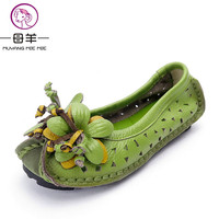 Summer Shoes Women Sandals 2016 Fashion Genuine Leather Flat Shoes Woman Casual Comfortable Flats Soft Loafers