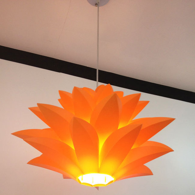 Flowers Lamp Pendant Light Material Of PVC 58CM Lotus Shape DIY Lampshade  Bedroom/shops Droplight