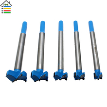 5PC 16-35mm Forstner Core Drill Bit Set Depth 0-100mm for Woodworking Hole Saw Wood Cutter Drilling Long Shank