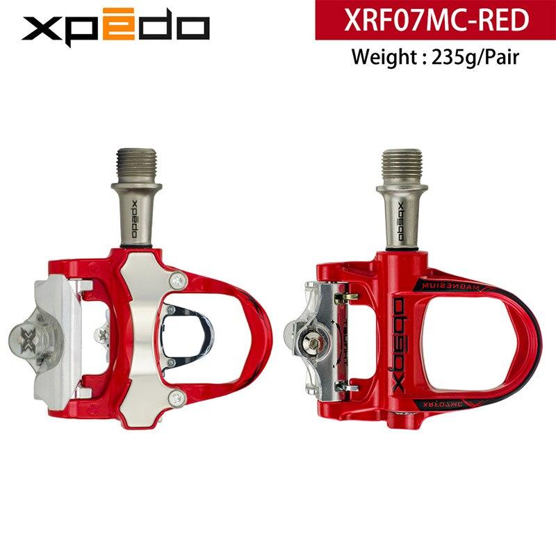 Wellgo Xpedo XRF07MC magnésium alliage de Bicyclette De Route clipless Pédale avec 2 paires look keo Compatible crampons autobloquant pédale 235g