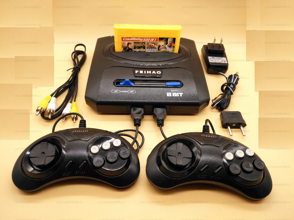 FEIHAO 8-Bit Retro TV Video Game Console compatible with 60 Pin Nes Games with Two Gamepads 25