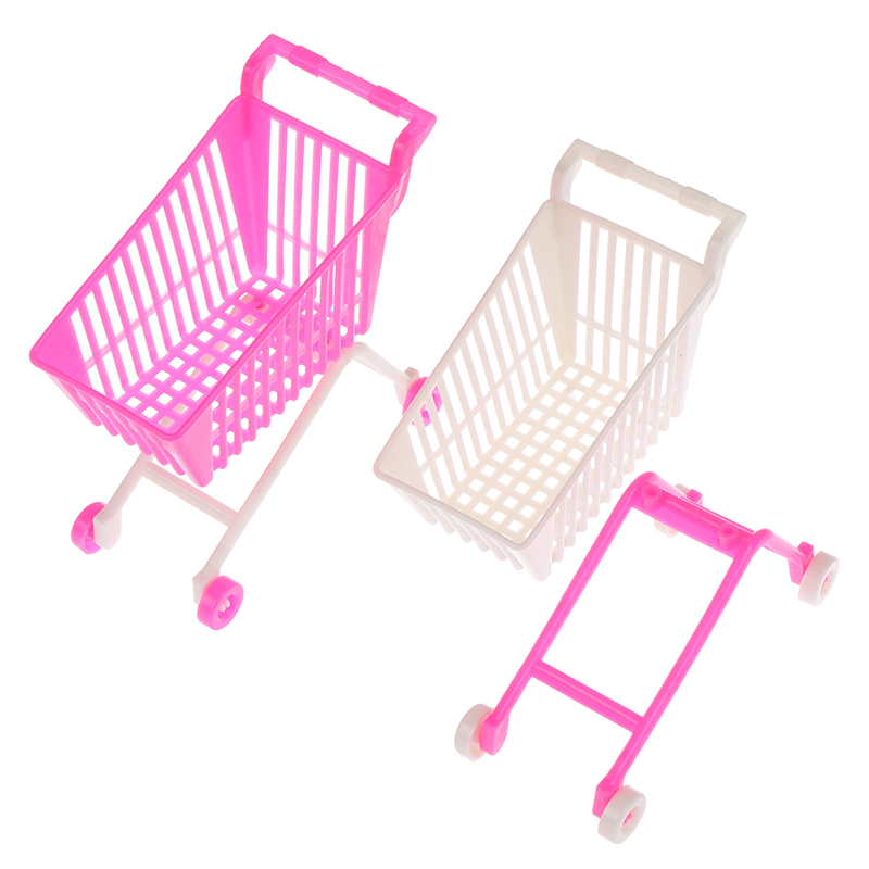 Mini Children Handcart Simulation Small Supermarket Shopping Cart Utility Cart Pretend Play Toys Strollers 10.5*5.5*10.5cm