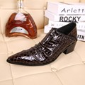 British Style Fashion Mans Snakeskin Genuine Leather Autumn Boots Brand Black Business Dress Shoes Social Sapatos Big Size 45 46