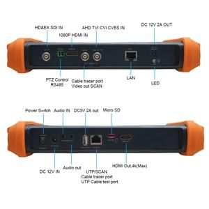 Image 2 - 7 אינץ AHD מצלמה בודק 8MP TVI CVI 5MP AHD 2MP SDI טלוויזיה במעגל סגור מצלמה בודק צג תמיכה UTP שיחת OSD תפריט