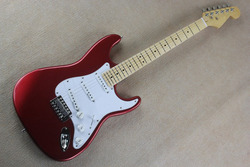 New Arrival Guitar F SSS Stratocaster Red White Pickguard 6 Strings natural Wood Electric Guitar @30