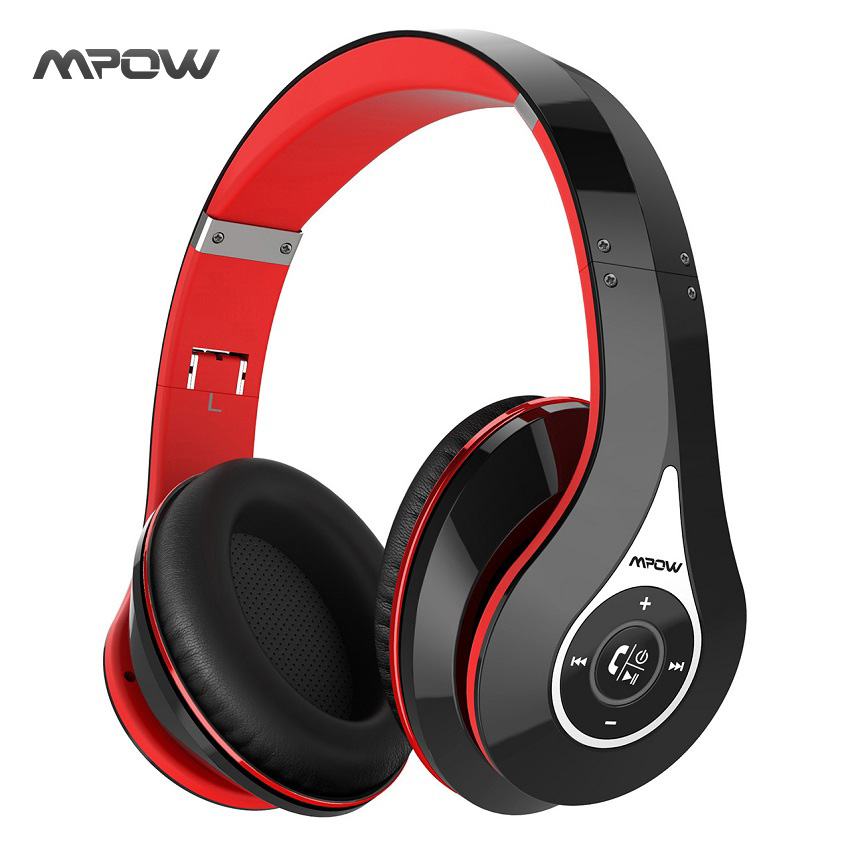 Mpow MPBH059AB On-Ear  Bluetooth Headphones with Noise Cancelling Stereo, Foldable Headband, Ergonomic Designed Soft Earmuffs