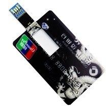 Белая кредитная карта, Пользовательский логотип, Usb флеш-накопитель, 128 Мб, 8 ГБ, 16 ГБ, 32 ГБ, 64 ГБ, USB 3,0, флешка, карта памяти