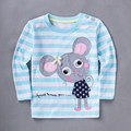 New 2017 Spring Autumn Cute Baby Girls Striped long sleeves T-shirt Can be used as a gift for girls.