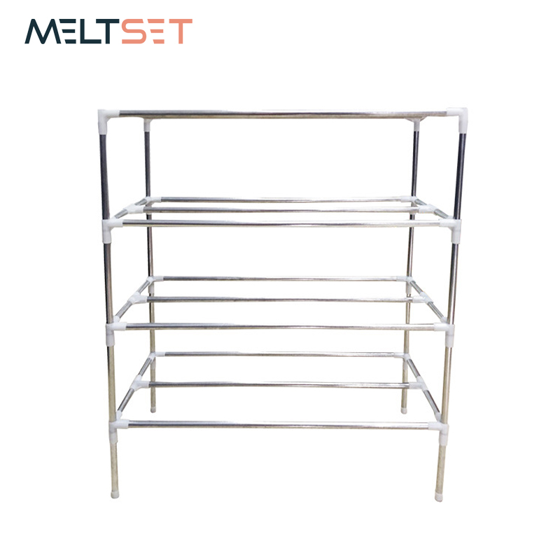 Stainless Steel Shoe Rack Cabinet Organizer 2/3/4/5/6 Layer Shoes Storage Shelf Easy Assembled Shoe Stand Holder Keep Room Clean