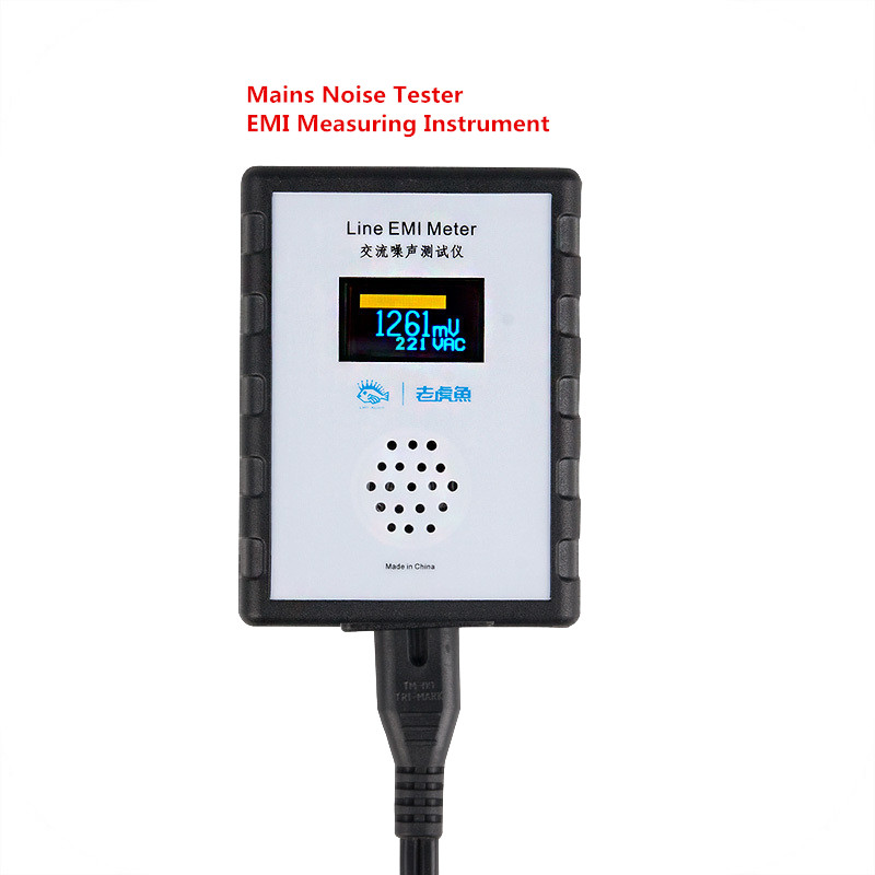 OLED Digital Display Mains Noise Tester EMI Measuring Instrument Broadband AC Power Supply Ripple Analyzer Line EMI Meter Y