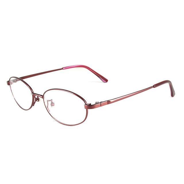 Reven WB3088 Vidrios Ópticos Moda Oval Aleación Montura Completa Anteojos Ópticos Delanteros para Las Mujeres Gafas de Prescripción