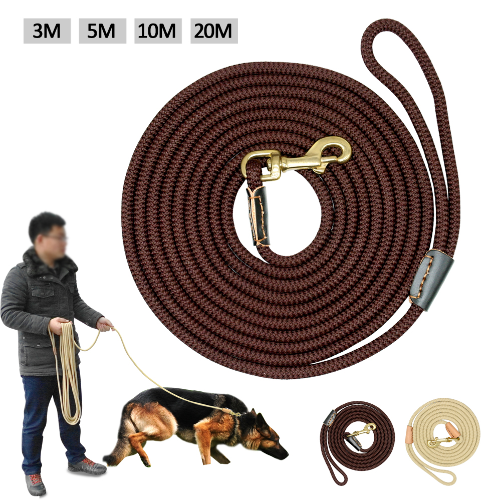Durable Dog Tracking Leash Nylon Long Leads Rope Pet Training Walking Leashes 3m 5m 10m 20m For Medium Large Dogs Non-slip 9