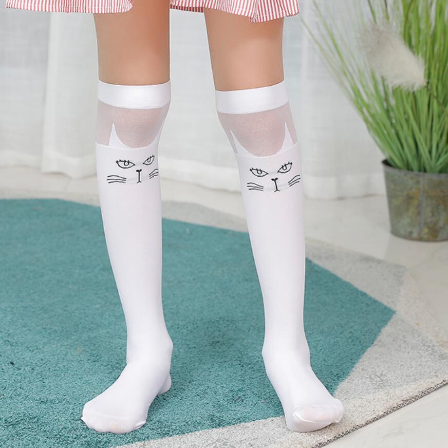 High Elasticity Girl Cotton Knee High Socks Uniform Underwater Fishes Women Tube Socks