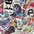 50 листов/комплект Мода ПВХ Наклейки для Дорожного Чемодана Стены Пенал Велосипед Телефон Скользящие Пластины Смешанных Граффити укладки