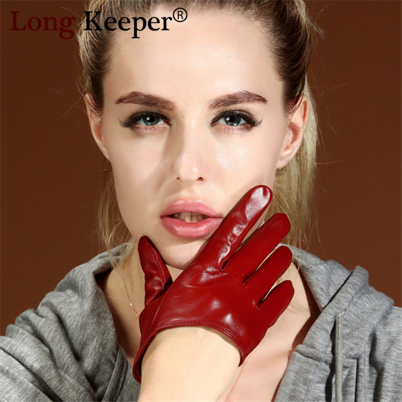 Women Fashion PU Leather Ultra Short Gloves Patent Sexy Bright Black Dancing Multicolor Luvas Fitness Party Show Mittens