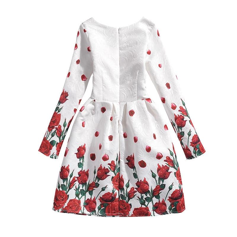752d0ede0fb02 Vintage Floral imprimé fille robe hiver automne enfants vêtements marque  filles enfants vêtements pour princesse école fête tenue décontracté dans Robes  de ...