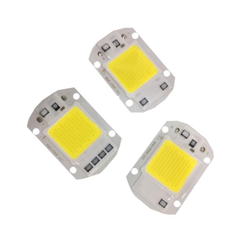 LED AC220v COB 20w/30w/50w Chip AC110V High Power Bead LED Floodlight Outdoor Lamp Pure White 6000k/warm White 3000k  1pcs