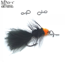 MNFT 50Pcs Quick Change For Flies Hooks And Lures Fly Fishing Snap Set High Carbon Steel Hook Snaps