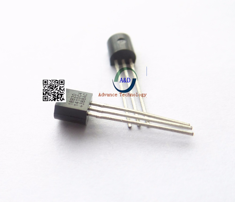 10 PCS 100% New and original DS18B20 TO-92 18B20 IC free shipping DS18B20+ TEMPERATURE SENSOR 1-WIRE TO92-3